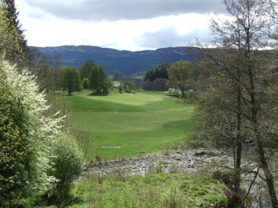 Killin Golf Club: the view from the first tee