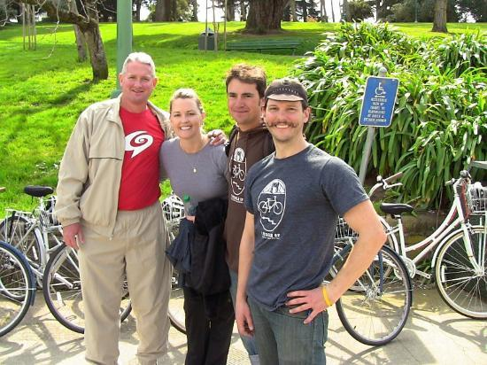 Streets of San Francisco Bike Tours: us with Daniel and Tanner, our guides