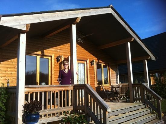 Oasis Lodges: enjoying the sun on the veranda at tadpole lodge