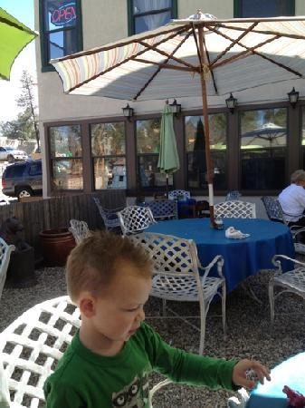Blue Goose Cafe : The outdoor seating area.