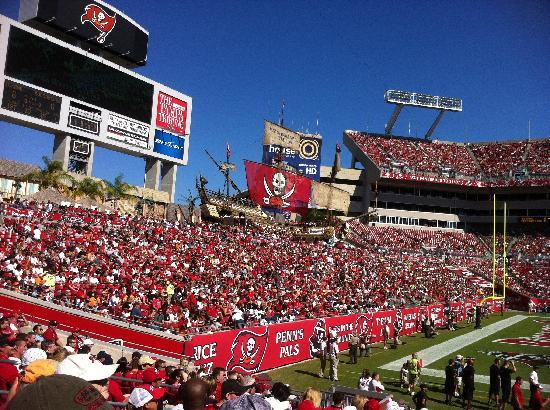 pirate ship during bucs game picture of raymond james stadium tampa tripadvisor pirate ship during bucs game picture
