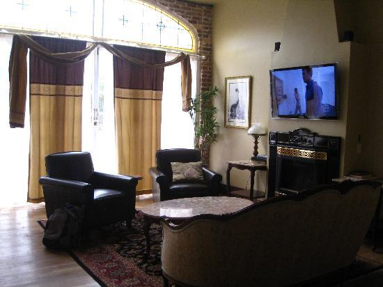 The 1880 Union Hotel: The living area of our suite