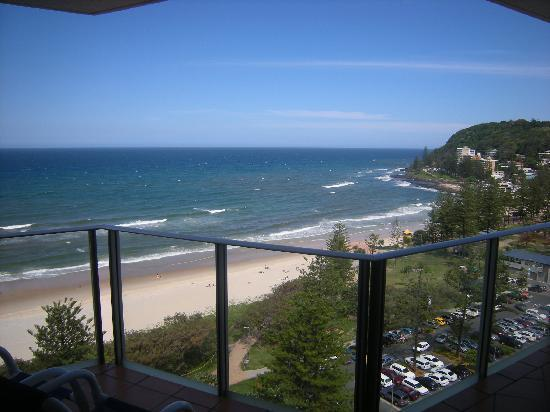 Pacific Regis Beachfront Holiday Apartments : Our southern view to Burleigh Headlands