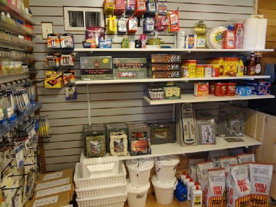 Lilleys' Landing Fly & Tackle Shop: Some connivence items are available as well.