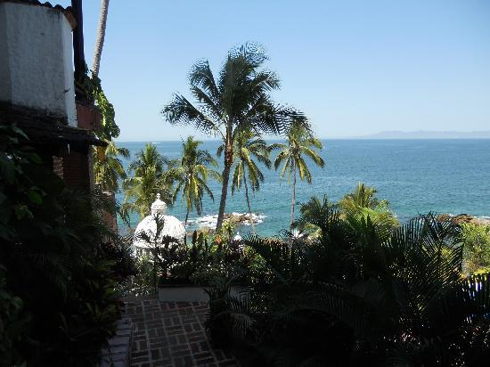 Playa Conchas Chinas: View from the lobby