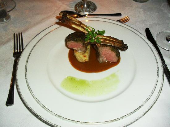 Gantleys Restaurant: lamb, notmedium rare