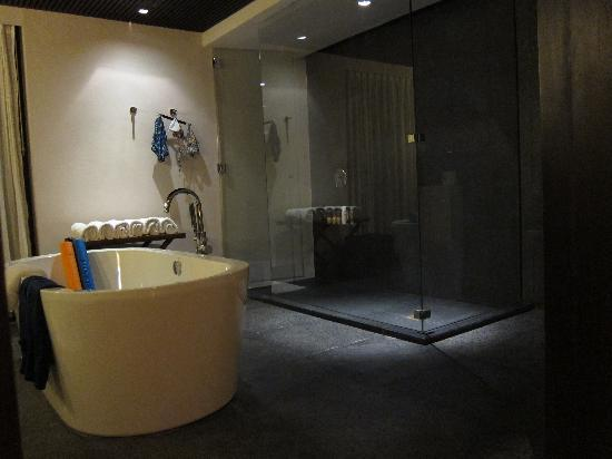 Abaca Boutique Resort: seaview pool villa toilet area with large shower stall