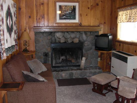 Quail Cove Lakeside Lodge: Cabin #3 - Living room