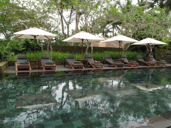 Maya Ubud Resort & Spa: pool-side at Maya