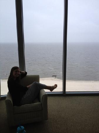 South Beach Biloxi Hotel & Suites: view from our living room. incredible!