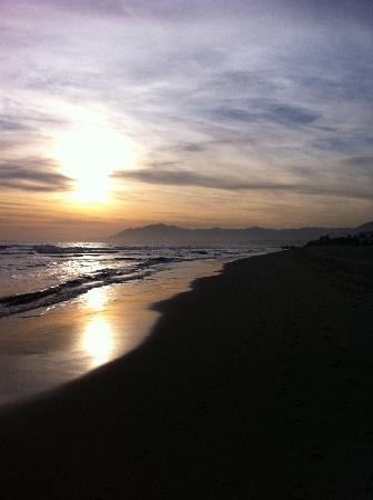 Los Monteros Spa Golf Resort Gl Beach At Sunset