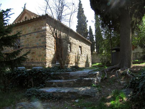 Church of Agios Nikolaos Orphanos: Northern wall, yard