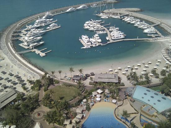 Jumeirah Beach Hotel: Hotels marina viewed from the window