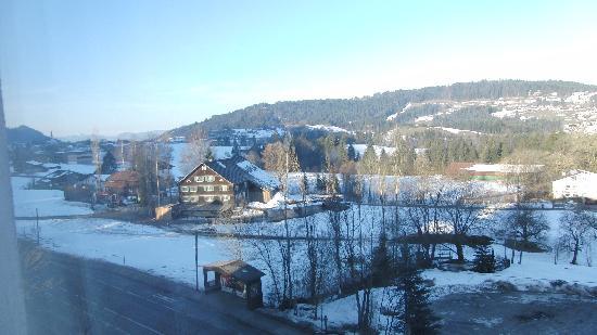 Hotel Engel : het uitzicht vanuit onze kamer