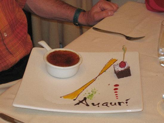 Osteria del Centenario : dessert personalizzato