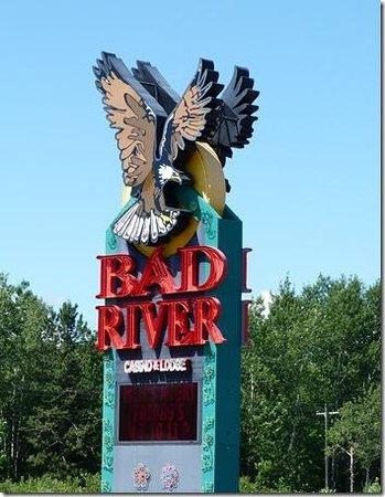 Odanah, WI: Bad River's Sign