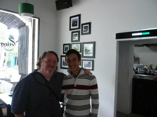 The Vetiver Restaurant: Myself and Binh, the owner