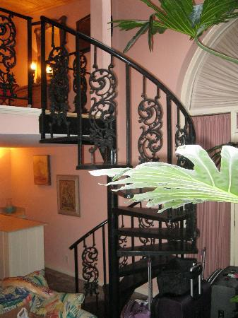 Olivier House Hotel: Room 112:wrought Iron Staircase