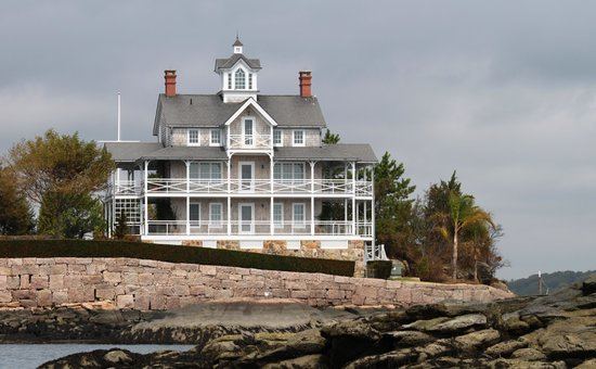 Thimble Islands : One of the homes on the tour.