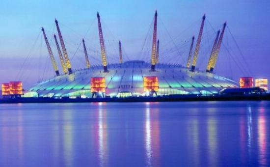 Millenium Dome At Dusk Picture Of The O2 London