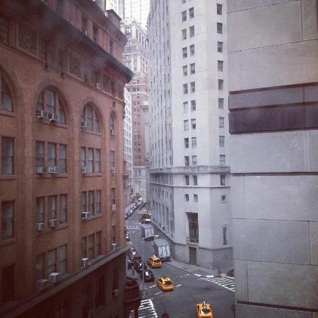 The Wall Street Inn: View up Williams St from our room