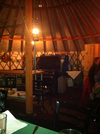 The Yurt at Solitude: the kitchen