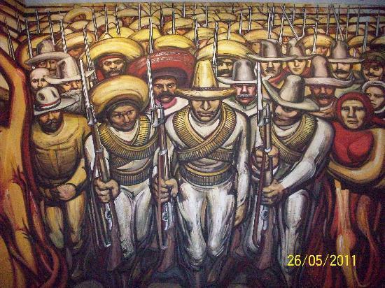 Foto de castillo de chapultepec ciudad de m xico mural for El mural de siqueiros en argentina