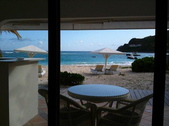 Hotel Emeraude Plage : my beach cottage terrace
