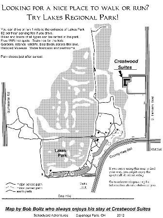 Ft. Myers Extended Stay Hotel: Crestwood Runner/ Walker Map