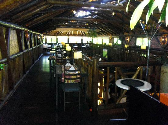 Roof of Africa Hotel: Upstairs restaurant