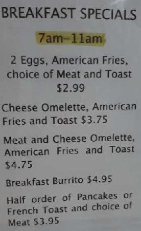 Telly's Coney Island: Breakfast Specials