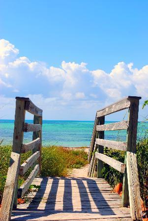 Bahia Honda State Park and Beach : entrance to a beach area