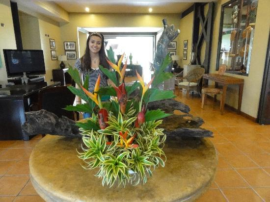 Lobby area in the Arenal Kioro Hotel