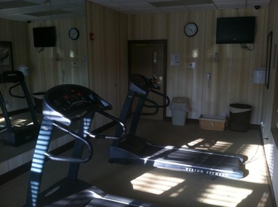 Country Inn & Suites by Radisson, Wilmington, NC: work out room ( lacking in free weights, elliptical, and cardio balls) Treadmills could use an u