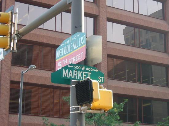 National Museum of American Jewish History: Street Marker where the museum is located