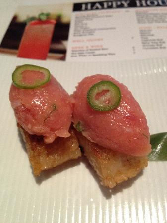 Katsuya by Starck - Laguna Beach: Crispy Rice with Spicy Tuna