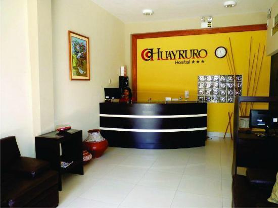 Huayruro Hostel: Recepción