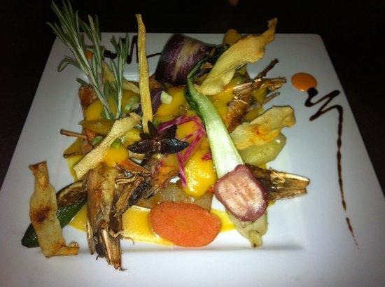 Fleur de Sel: crevette sauce Giromon&mangue