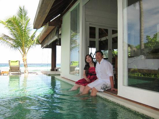 Naladhu Resort Maldives : nice villa to take aa pree wedding photos