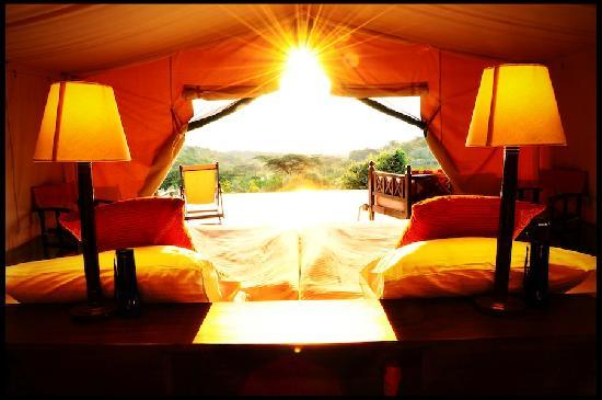 Entumoto Safari Camp: view from the tent