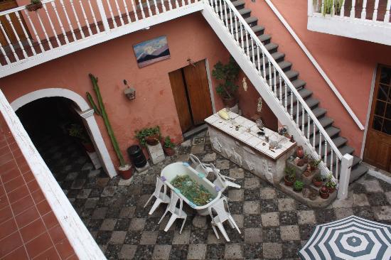 Posada Nueva España: la cour intérieure