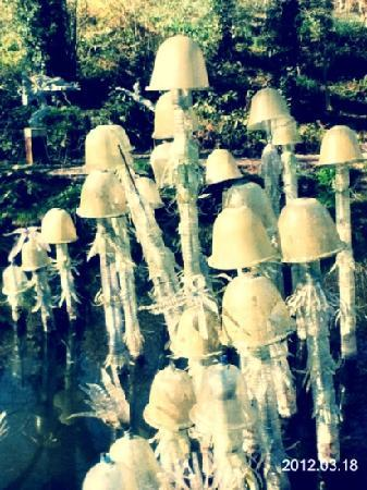 Broomhill Art Hotel and Scupture Garden restaurant: awesome alien jellyfish