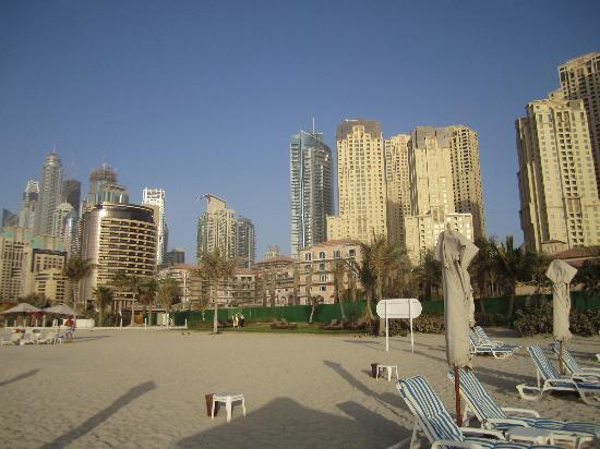 The Ritz-Carlton, Dubai: Ritz Carlton beach shot - the building never stops
