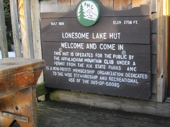 Lonesome Lake Hut: Welcome!