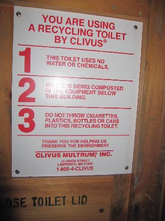 Lonesome Lake Hut: Ahhh!  Composing toilets.