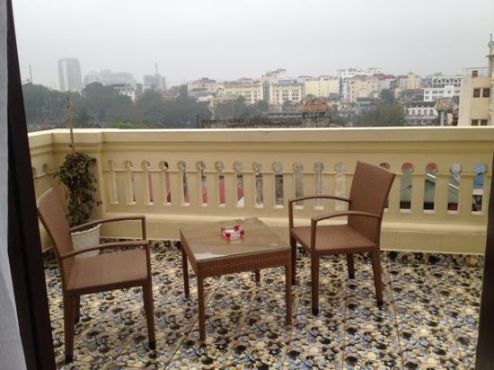 Hanoi Meracus Hotel 1: la terrasse au 7 ème étage