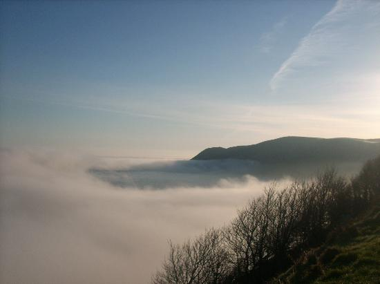 Lynton, UK: misty morning