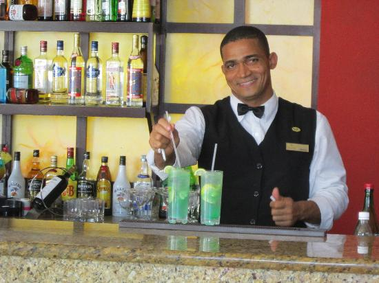 "Dreams Palm Beach Punta Cana: Bartenders at the lobby bar are ""your family for life"""