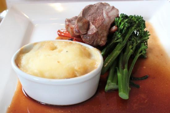 The Angel Inn: rump of lamb at the Angel restaurant