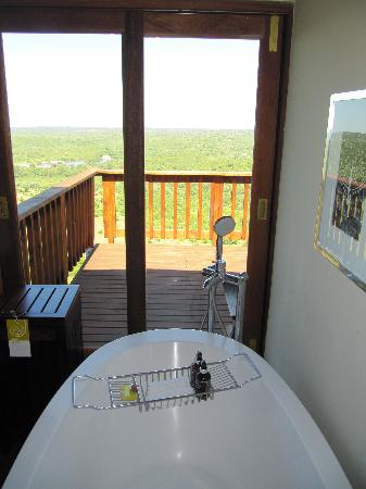 Ulusaba Private Game Lodge: View from the en-suite bath